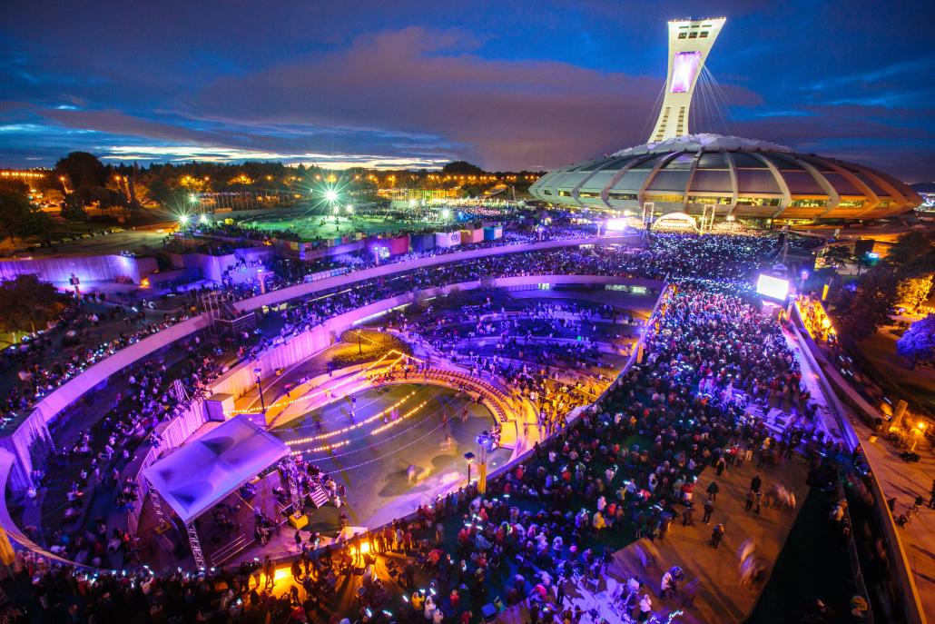 L'Esplanade du Stade olympique
